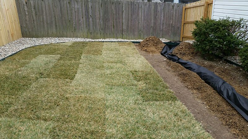 Gallery columbia missouri premier lawncare and for Drainage solutions for lawns