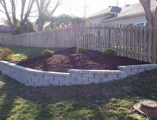 Retaining Wall for Grassless Hillside