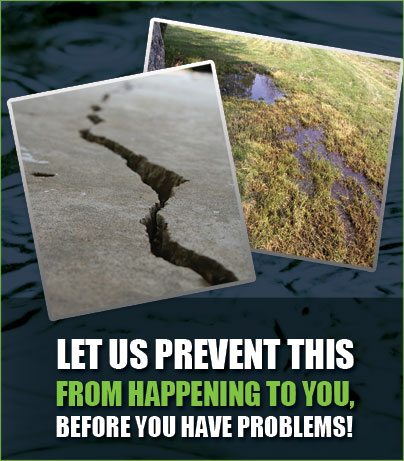 Jolly Lawncare Drainage Solutions to prevent Foundation Cracking and Settling and Standing Water