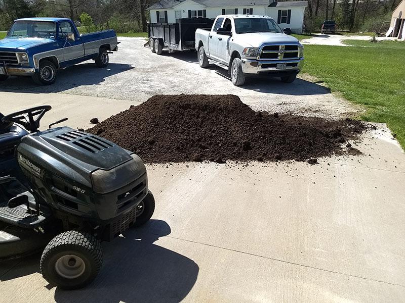 Yard Grading And Grass Sod Transform A Yard Jolly Lawncare