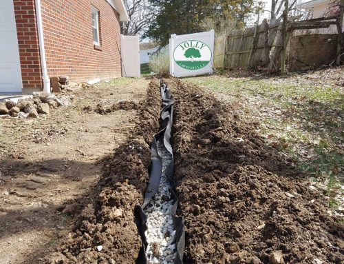 April & May Showers Flood Your Yard. A French Drain Fixes it!