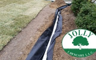 French Drain and Sod Job Jolly Lawncare Landscaping and Drainage Solutions in Columbia MIssouri 5 Grass